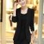 Pre-Order เสื้อสูททำงานแขนยาว เสื้อสูทผู้หญิง สูทลำลอง สีดำ แฟชั่นชุดทำงานสไตล์เกาหลี thumbnail 4
