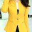 Pre-Order เสื้อสูททำงานแขนยาว เสื้อสูทผู้หญิง สูทลำลอง สีเหลือง แฟชั่นชุดทำงานสไตล์เกาหลีปี 2014 thumbnail 6