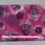 กระเป๋าเครื่องสำอางค์ นารายา ผ้าคอตตอน สีชมพู ลายดอกไม้ มีกระจกในตัว Size L (กระเป๋านารายา กระเป๋าผ้า NaRaYa) thumbnail 4