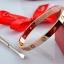 พร้อมส่ง ~ Cartier Diamond Bracelet กำไลข้อมือหน้าโลโก้คาร์เทีย thumbnail 3