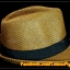 หมวกสาน ทรงไมเคิล สีน้ำตาลเข้ม ขอบเรียบ แถบดำ ฮิตๆ !!! thumbnail 4
