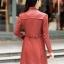 (Pre-order) เสื้อแจ็คเก็ตหนังแท้ เสื้อโค๊ตยาว หนังแกะ แฟชั่นเกาหลี สีชมพู thumbnail 4
