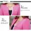 Pre-Order เสื้อสูททำงานแขนยาว เสื้อสูทผู้หญิง สูทลำลอง สีชมพู แฟชั่นชุดทำงานสไตล์เกาหลีปี 2014 thumbnail 3