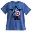 z Captain America Flocked Tee for Men thumbnail 1