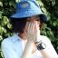 Pre-order หมวกยีนส์แฟชั่น หมวกปีกกว้าง หมวกฤดูร้อน กันแดด กันแสงยูวี สีบลูยีนส์ thumbnail 2