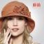 Pre-order หมวกผ้าลินินติดโบว์ดอกไม้แฟชั่นฤดูร้อน กันแดด กันแสงยูวี สวยหวาน สีส้ม thumbnail 1
