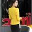 Pre-Order เสื้อสูททำงานแขนยาว เสื้อสูทผู้หญิง สูทลำลอง สีเหลือง แฟชั่นชุดทำงานสไตล์เกาหลีปี 2014 thumbnail 2