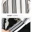 Pre-Order เสื้อชีฟอง คอกลม แขนยาว ผ้าพิมพ์ลายทาง เสื้อผ้าแฟชั่นสไตล์เรโทร วินเทจ thumbnail 2