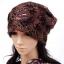 (Pre-order) หมวกคลุมผม หมวกไหมพรมผ้าฝ้ายถัก แฟชั่นหมวกคลุมผม สวยเก๋ ปักลวดลายตาข่าย-ดอกไม้ สีน้ำตาล thumbnail 1