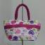 กระเป๋าถือ นารายา Size S ผ้าคอตตอน พื้นสีขาว ลายดอกไม้ หลากสี ผูกโบว์ สีชมพู สายหิ้ว หูเกลียว (กระเป๋านารายา กระเป๋าผ้า NaRaYa กระเป๋าแฟชั่น) thumbnail 5