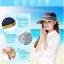 Pre-order หมวกแฟชั่น หมวกแก็ปปีกกว้าง หมวกฤดูร้อน กันแดด กันแสงยูวี สีบลูยีนส์แต่งด้วยผ้าพิมพ์ลายดอกไม้ thumbnail 5