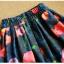 Pre-order กระโปรงพลีท จีบใหญ่ ผ้าขีฟองพิมพ์ดอกไม้ แฟชั่นเรโทรย้อนยุค กระโปรงยาว thumbnail 6