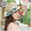 Pre-order หมวกปีกกว้างแฟชั่นฤดูร้อน กันแดด กันแสงยูวี สวยหวานเรียบหรู ดูดี สีครีมดอกแดง thumbnail 1
