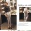 Pre-Order กางเกงสแลคผู้หญิง กางเกงทำงาน ผ้าโพลีเอสเตอร์ กางเกงทรงดินสอ เอวสูง ไซส์ใหญ่ สีครีม thumbnail 3