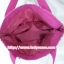 กระเป๋าสะพาย นารายา ผ้าคอตตอน พื้นสีขาว ลายดอกกุหลาบ สีชมพู ผูกโบว์ (กระเป๋านารายา กระเป๋าผ้า NaRaYa กระเป๋าแฟชั่น) thumbnail 6