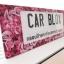 กรอบป้ายทะเบียนรถยนต์ (มีอะคริลิคใสปิดตรงกลาง) แบบยาว 18.5 นิ้ว CB 3041 ลาย LOVE STORYS. thumbnail 5