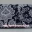 กระเป๋าเครื่องสำอางค์ นารายา ผ้าคอตตอน สีน้ำเงิน ลายดอกไม้ มีกระจกในตัว Size L (กระเป๋านารายา กระเป๋าผ้า NaRaYa) thumbnail 4