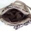 กระเป๋าสะพาย นารายา ผ้าคอตตอน นาโน สีโกโก้ ผูกโบว์ สีน้ำตาลเข้ม ลายดอกไม้ ด้านข้าง (กระเป๋านารายา กระเป๋าผ้า NaRaYa กระเป๋าแฟชั่น) thumbnail 6